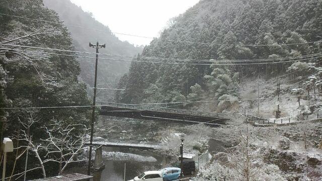 玉川峡は雪の中