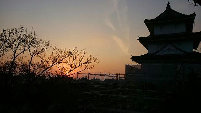 明石城の夕暮れ